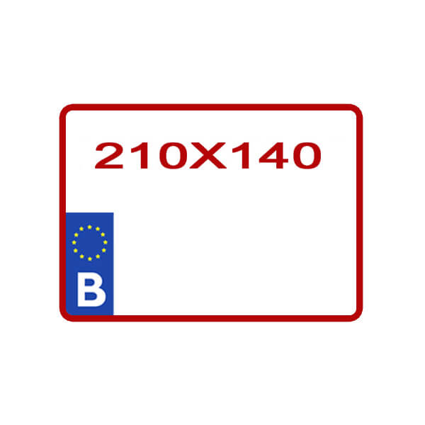 Reproduction plaque minéralogique pour moto ou 4X4