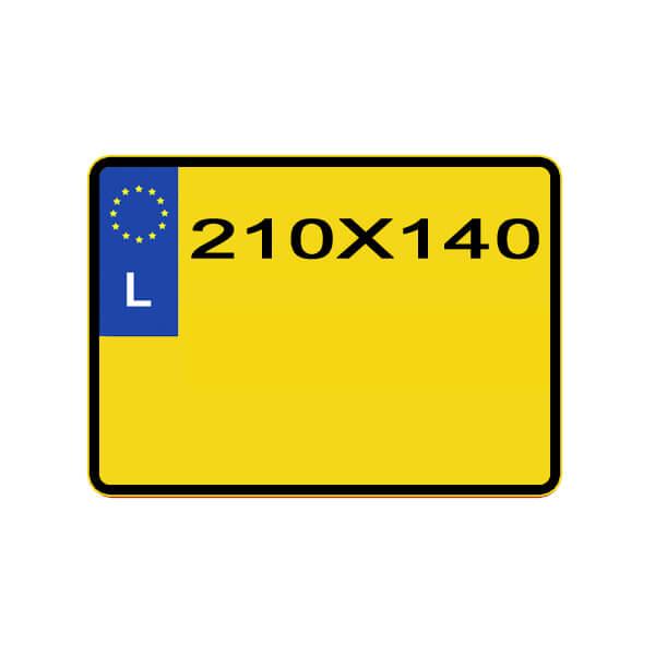reproduction p^laque minéralogique Luxembourgeoise pour moto ou 4x4