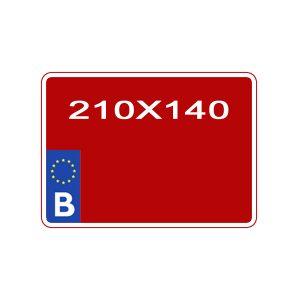 reproduction plaque immatriculation agricole noir sur fond rouge