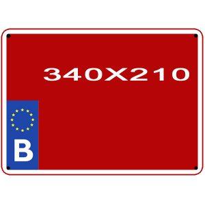 reproduction plaque agricole belge format auropéen