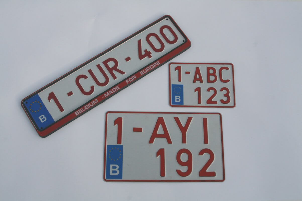 plaques immatriculations belges
