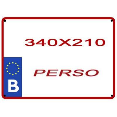reproduction plaque personnalisée 340 X 210