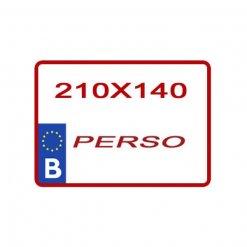 copie plaque moto personnalisée 210 X 140 mm