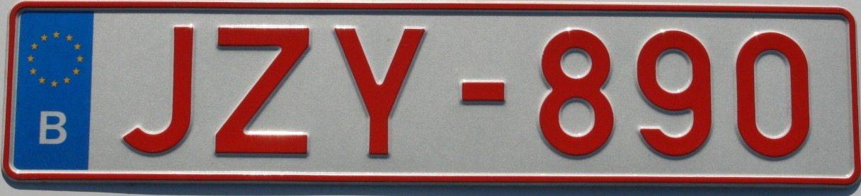 reproduction plaque avant voiture belgique
